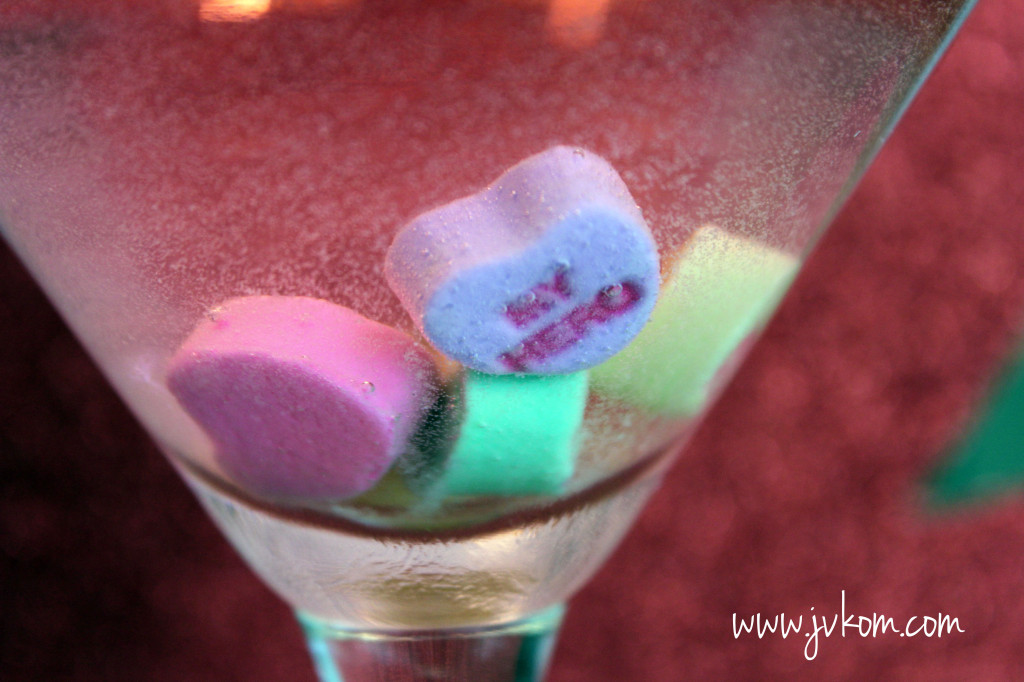 conversation hearts martini 2