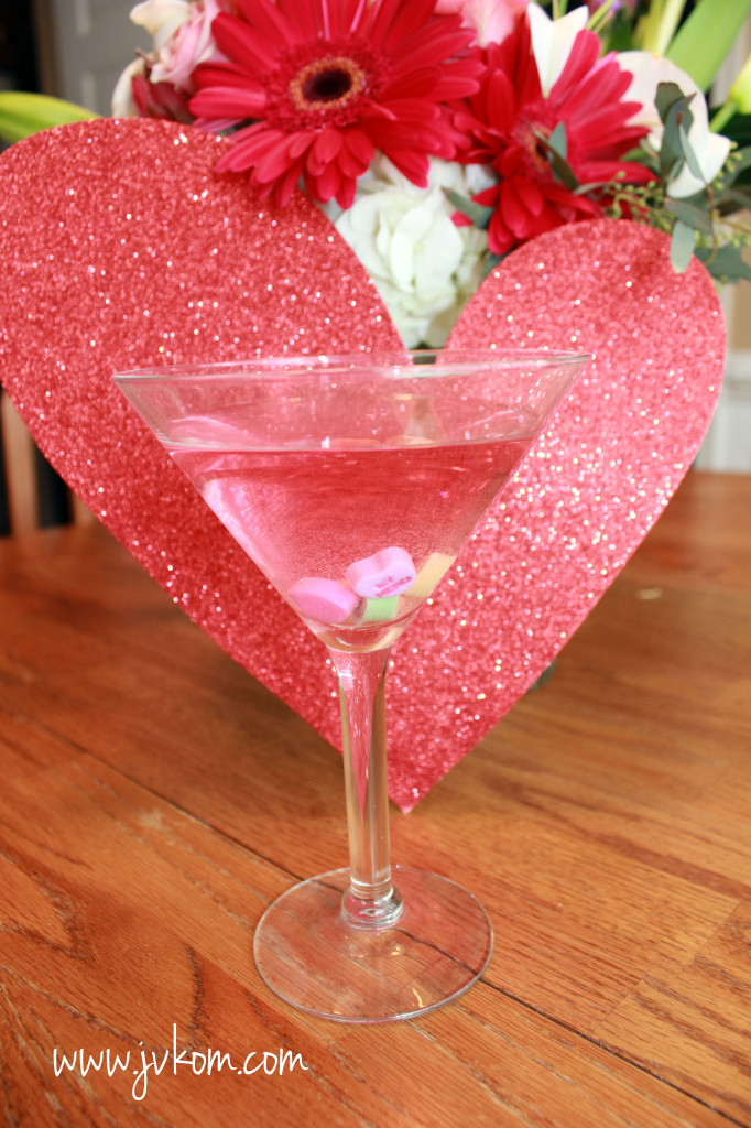 conversation hearts martini