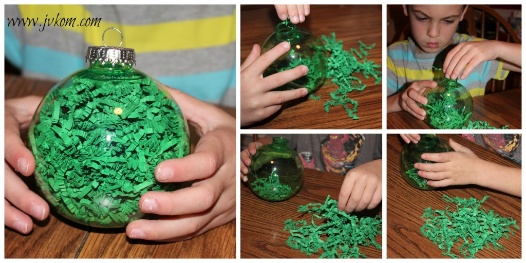 Ninja Turtle Ornaments steps to filling with decorative filler.