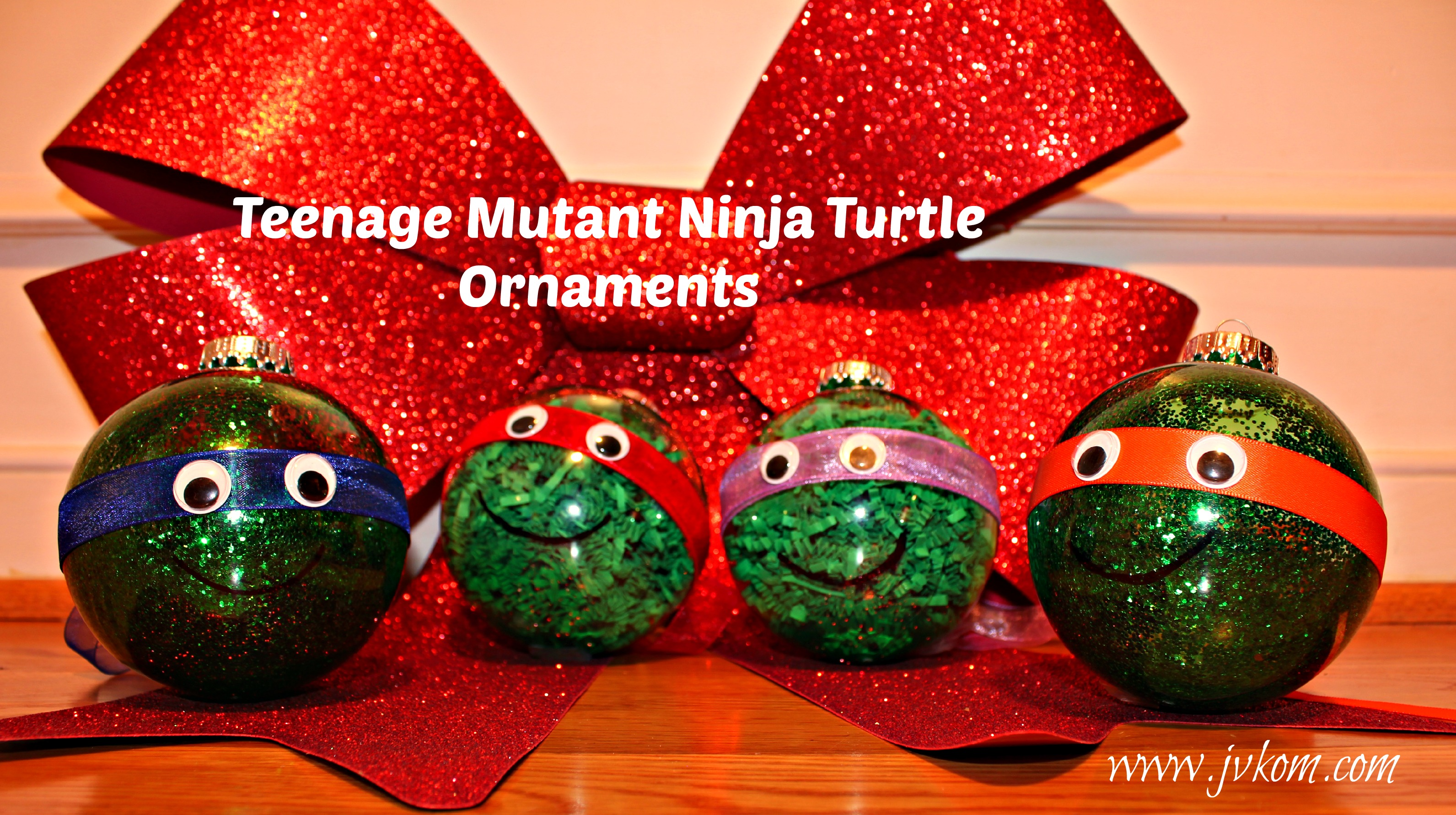 DIY Ninja Turtle Ornaments