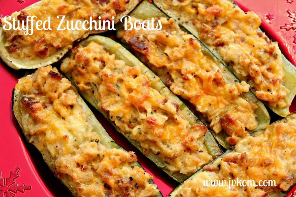 Stuffed Zucchini boats. #cbias #TasteTheSeason#
