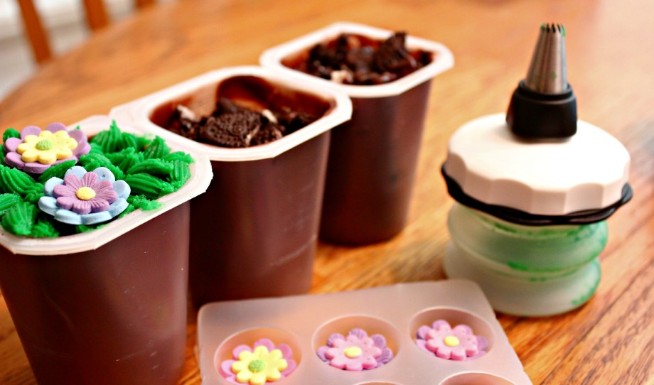 Easter Garden Pudding Cups #SnackPackMixins #Ad