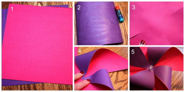 DIY Pinwheel Craft Steps