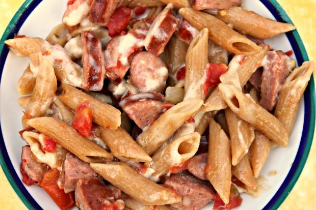 Sausage & Rotel Pasta