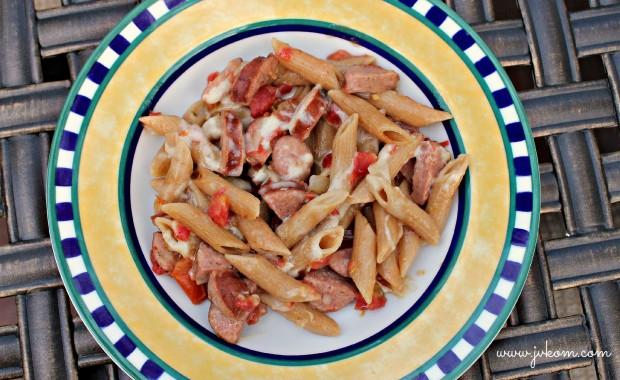 Sasusage & Rotel Pasta