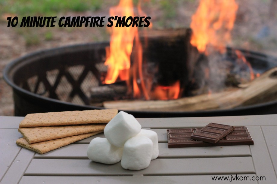 10 Minute Campfire S'mores #LetsMakeSmores #collectivebias #ad