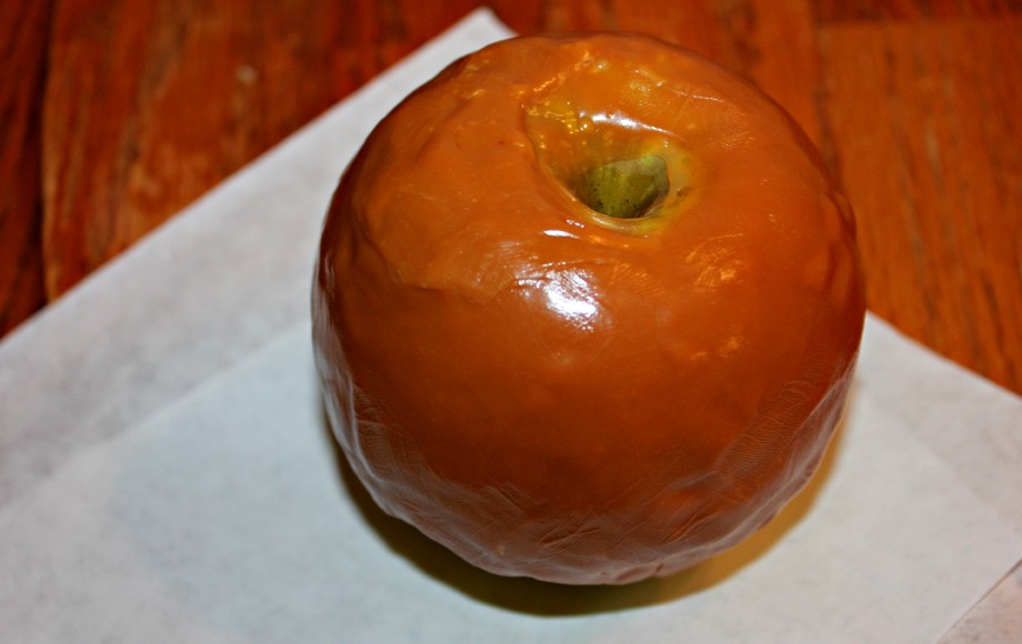 caramel coated apple