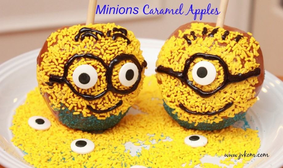 Minions Caramel Apples recipe #MinonsMovieNight #ad