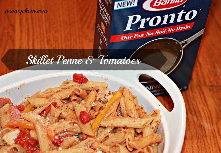 One Pot Pasta - Skillet Penne & Tomatoes #HolidayPairings #ad #cbias