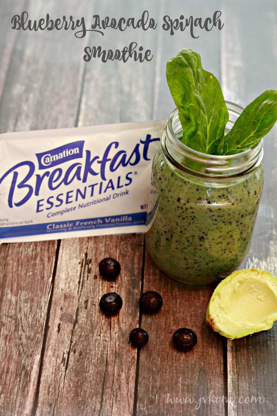 Blueberry Avocado Spinach Smoothie #CarnationSweepstakes #BetterBreakfast #CollectiveBias #ad