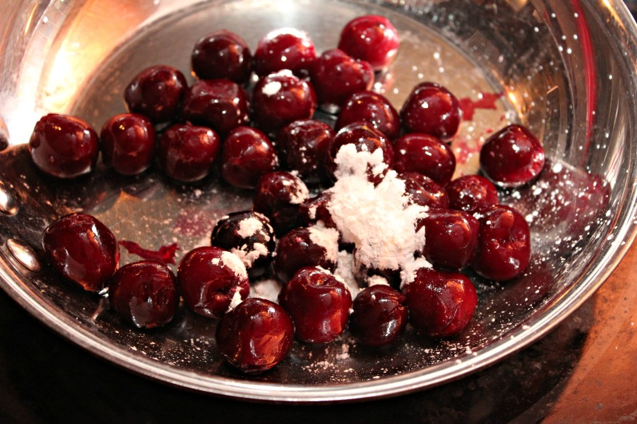 cherries and cornstarch