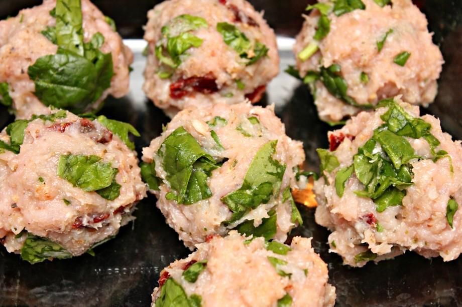 prepped meatballs