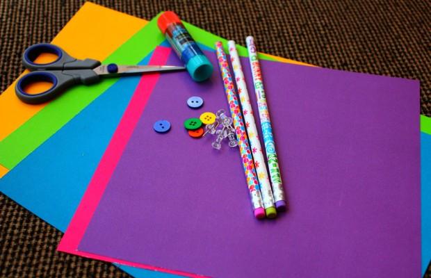 DIY Pinwheel Craft supplies