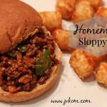 Homemade Sloppy Joe
